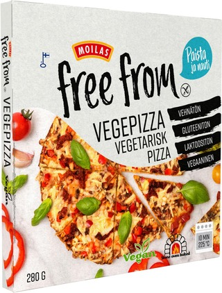 Moilas Free From Vegepizza 280G Pakaste