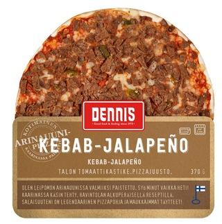 Dennis 370g kebab-jalapenopizza