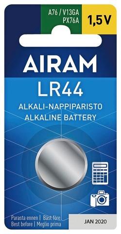 Airam LR44 1,5V 1/bl alkali nappiparisto