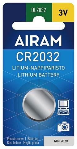 Airam CR2032 1/bl litium nappiparisto