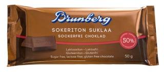 Brunberg Sokeriton Suklaa 50G