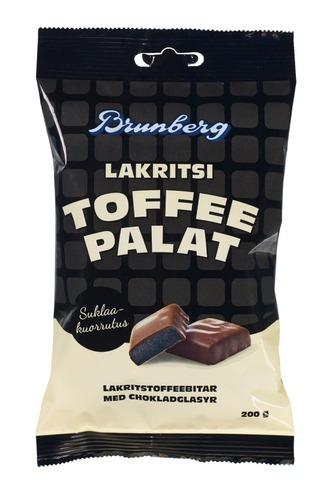 Brunberg Suklaakuorrutettuja lakritsitoffeepaloja 200g