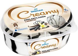Ingman Creamy 470G/0,85L Englantilainen Lakritsi Jäätelö, Into