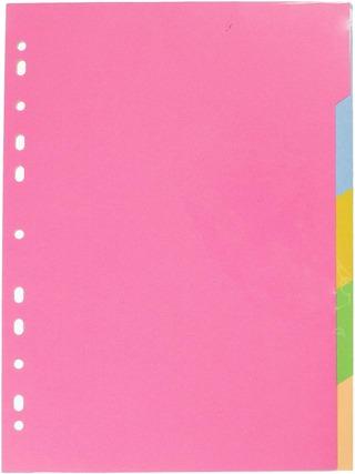 Karto Kartonkirekisteri A4 1-5 Värilajitelma