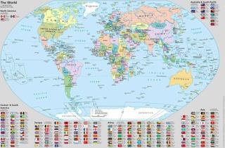 Kirjoitusalusta Maailman Kartta 590X390 Mm