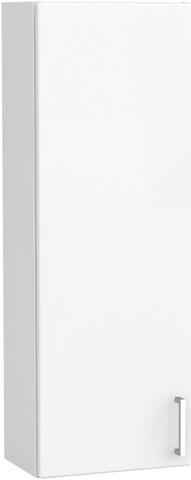 Yläkaappi Ovella, 30 X 20 X 85 Cm, Korkeakiiltoinen Valkoinen