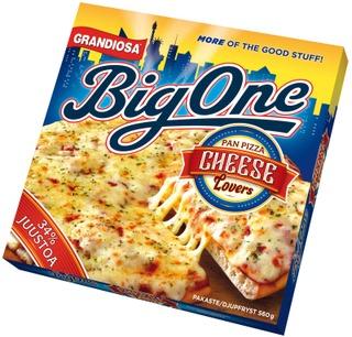 Grandiosa Big One Pan Pizza Cheese Lovers Juustopizza 560G