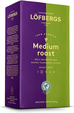 Löfbergs Medium Roast Suodatinkahvi 500 G Rainforest Alliance