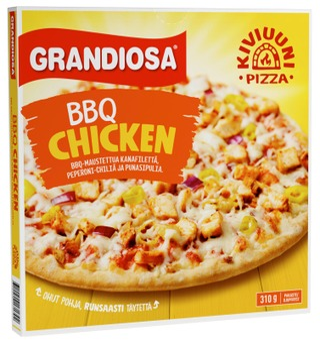 Grandiosa Bbq Chicken Kiviuunipizza 310G