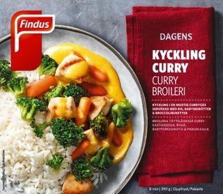 Findus Dagens Curry Broilerinfilee 390G, Pakaste