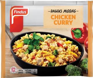 FindusDagens Middag Chicken Curry 600g, pakaste