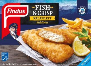 Findus Fish & Crisp Kalafileet Msc 240G, Pakaste