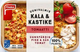 Findus Uunivalmis Kala & Kastike Tomaatti Msc 380G, Pakaste