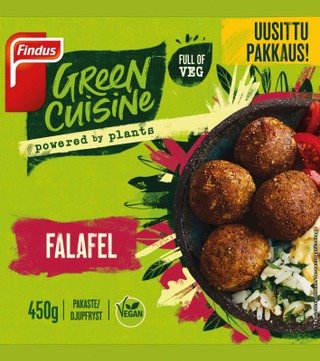 Findus Green Cuisine Falafel 450G, Pakaste