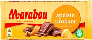Marabou  Apelsinkrokant  Suklaalevy 200G