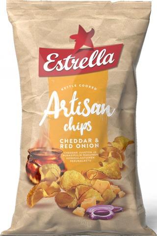 Estrella Artisan Cheddar & Red Onion 180G