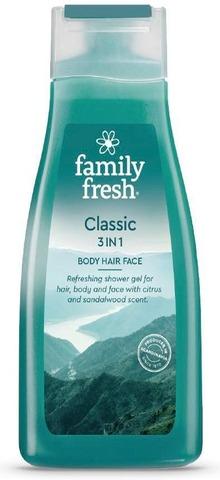Family Fresh Classic 3In1 Body Hair Face Shower Gel Suihkugeeli 500Ml