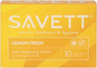 Savett Lemon Fresh kosteuspyyhe 10kpl