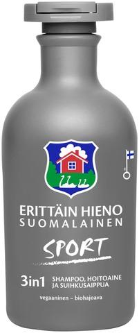 Erittäin Hieno Suomalainen Sport 3In1 Shampoo, Hoitoaine, Suihkusaippua 300Ml