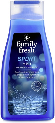 Family Fresh Sport 2-in-1 shower & shampoo shampoo- ja suihkusaippua 500ml