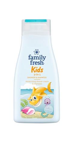 Family Fresh Kids 2-in-1 shower & shampoo shampoo- ja suihkusaippua 500ml