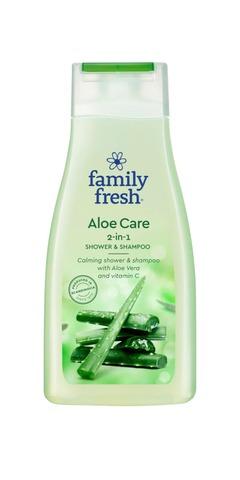 Family Fresh Aloe Care 2-In-1 Shower & Shampoo Shampoo- Ja Suihkusaippua 500Ml