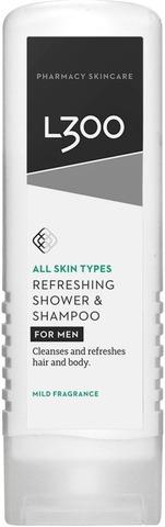 L300 For Men Refreshing Shower & Shampoo Mild Fragrance Kosteuttava Suihkusaippua Ja Shampoo 250Ml