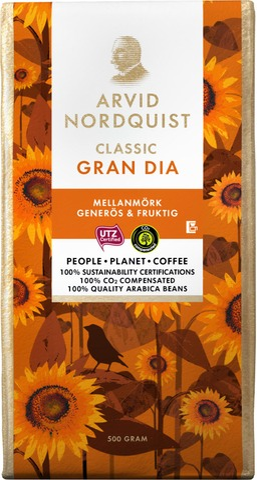 Arvid Nordquist Classic Gran Dia Kahvi 500G