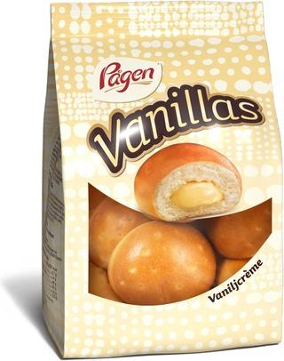Pågen Vanillas vaniljacrèmetäytteiset pikkupullat 195g