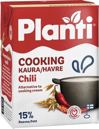 Planti Cooking Chili kaurapohjainen ruoanlaittovalmiste 15% rasvaa 2dl