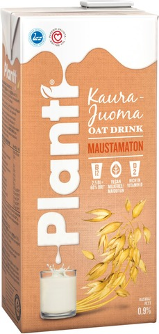 Planti Maustamaton Kaurajuoma 0,75L