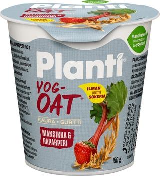 Planti Yogoat Mansikka-Raparperi, Kauratuote Hapatettu Jogurttihapatteella  150G