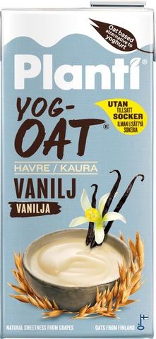 Planti Yogoat Vanilja, Kauratuote Hapatettu Jogurttihapatteella 0,75L