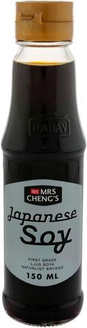 Mrs Cheng's Japanese Soy Japanilaistyyppinen Vaalea Soijakastike 150 Ml