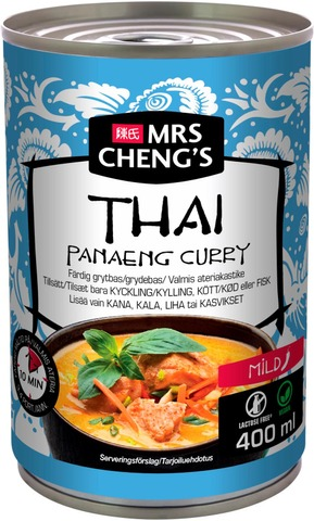 Mrs Cheng's Thai Panaeng Curry Valmis Ateriakastike 400Ml