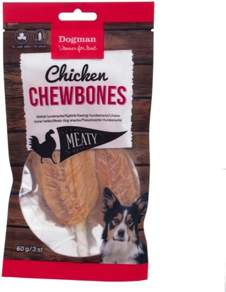 Dogman Meaty 60G 3Kpl Chicken Chewbone Koiraherkku
