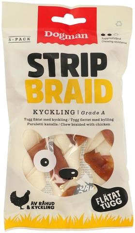Dogman Chicken Strip Braid 3-Pack S Puruluut Kanalla