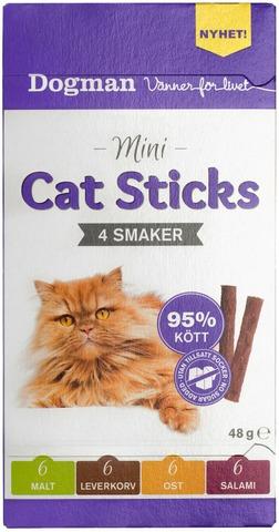 Dogman 48g Mini Cat Sticks lihatikkuja kissalle 4 eri makua