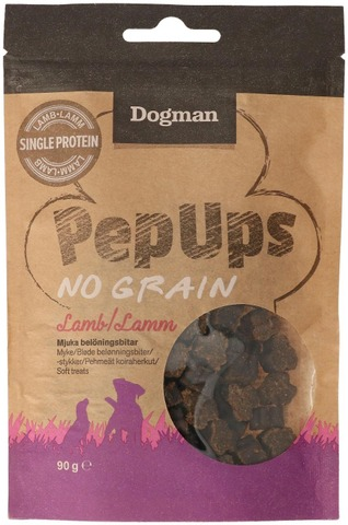 Dogman Pep Ups No Grain Lammas pehmeät koiraherkut 90g