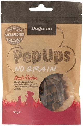 Dogman Pep Ups No Grain Ankka pehmeät koiraherkut 90g