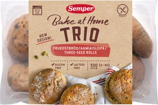 Semper Gluteeniton 5X60g Gluteenittomat Trio Aamiaissämpylät