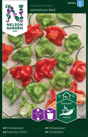 Nelson Garden Siemen Paprika, Chili-, Jamaican Bell