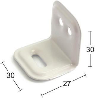 Habo Kalustekulma 502 30X30mm Valkoinen 4Kpl