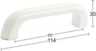 Habo Kalustevedin Nina Cc96mm Valkoinen