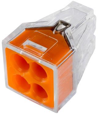 Gelia Wago Kytkentäliitin 4-Osainen 0.75-2.5 10Kpl Oranssi