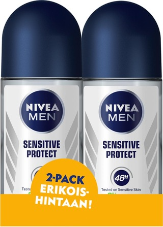 NIVEA MEN 2x50ml Sensitive Protect Deo roll-on -antiperspirantti