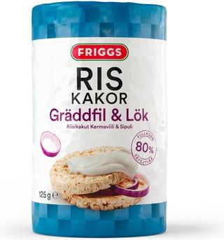 Friggs kermaviili-sipuli gluteeniton riisikakku 125g