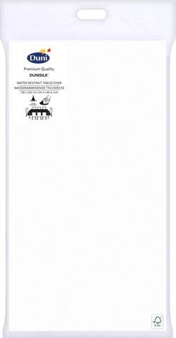 Duni Dunisilk+ 138X220cm Valkoinen Pöytäliina