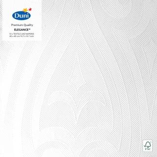 Duni Elegance 10kpl 40cm Lily valkoinen lautasliina