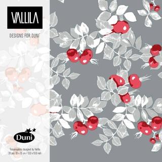 Duni Vallila 33cm 3-krs Ruusunen lautasliina 20kpl